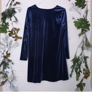 Old Navy Blue Velvet Swing Dress